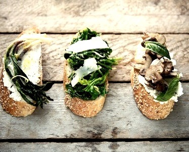 Spring Crostini Recipe. Photo By Nicole FranzenRecipe