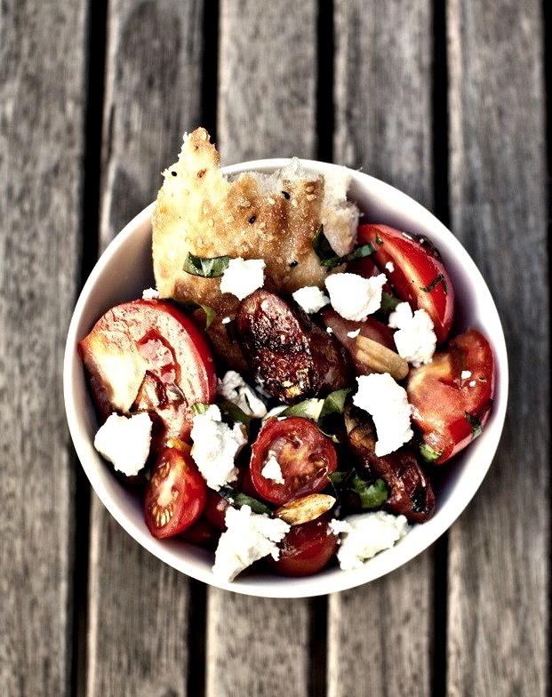 chorizo and tomato salad.