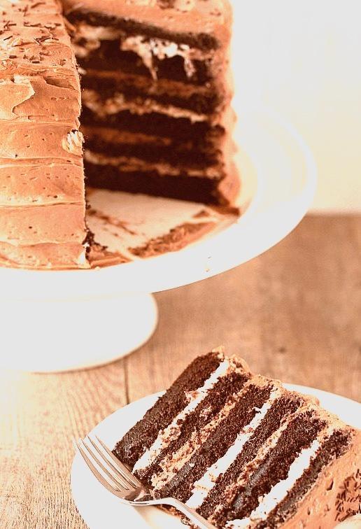 Six Layer Chocolate Cake Recipe (x)