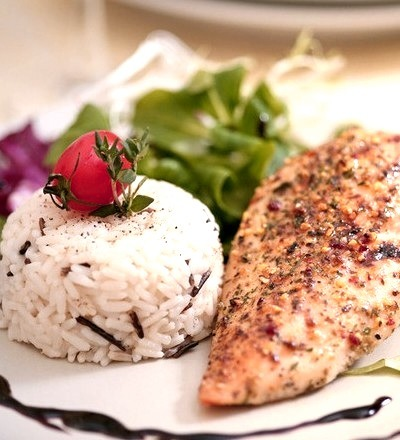 Herbed Chicken Breasts With Wild Rice