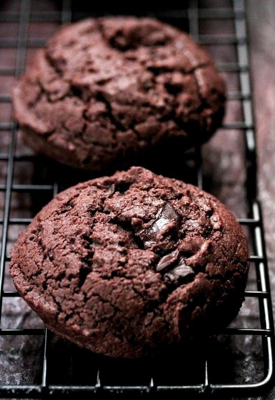 Gluten Free Double Chocolate Chunk Cookies