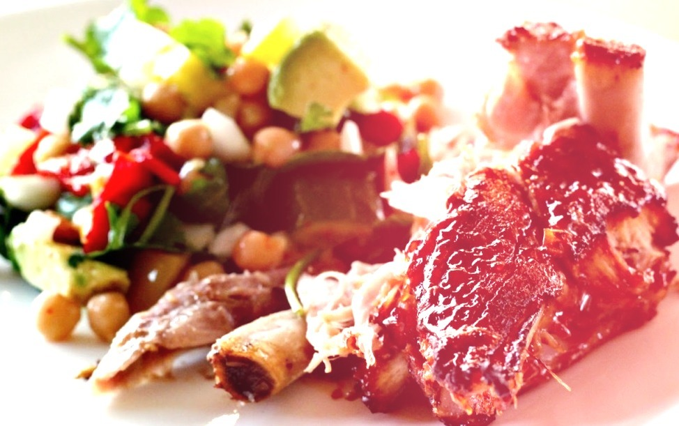 Slow Cooked Pork Ribs with Cheats Barbecue Sauce