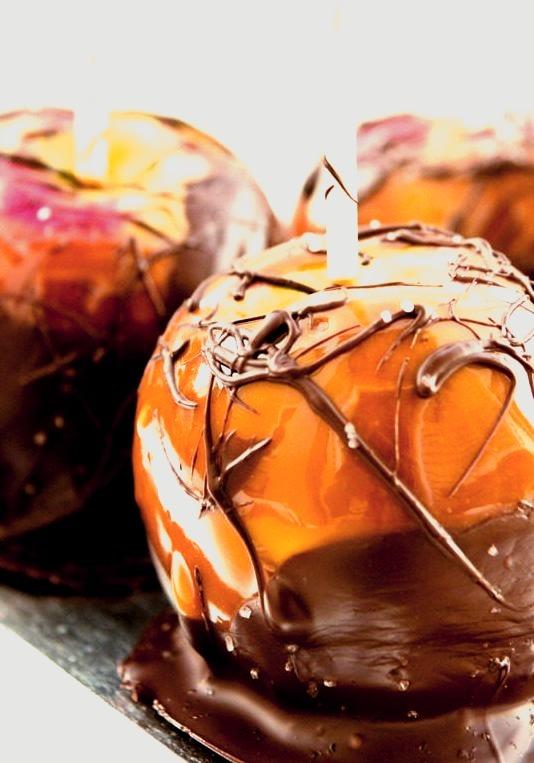Salted Chocolate Caramel Apples