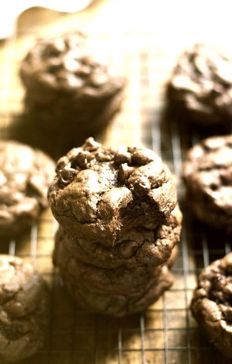 Fudge Double Chocolate Cookies Pinch of Yum