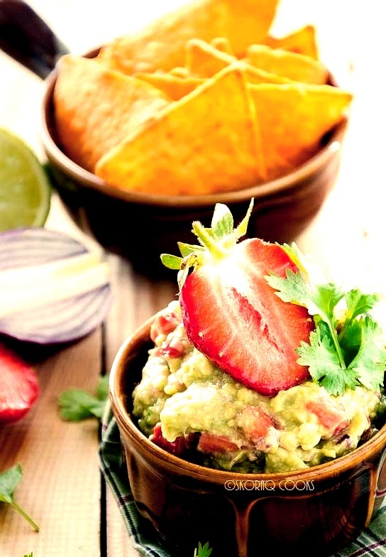 Guacamole with Strawberries