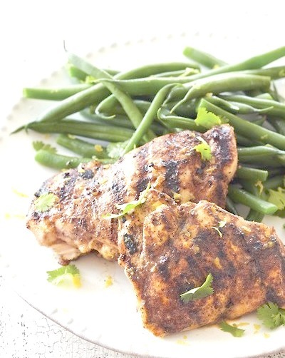 spiced rubbed grilled chicken