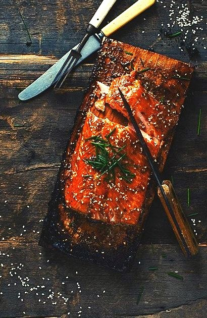 Maple syrup bbq'ed salmon by