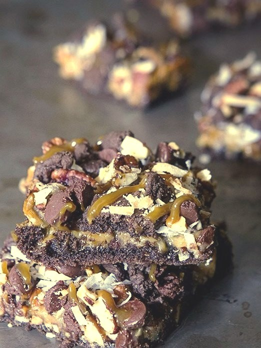 Caramel-Coconut Brownies