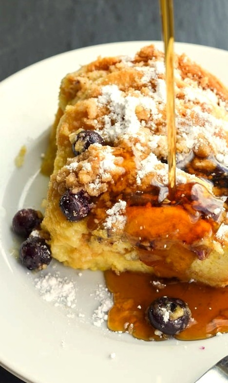 Blueberry Pancake French Toast
