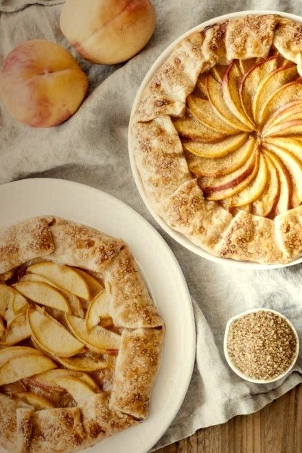 Pretty in Peach Galette. Quick, easy, and perfect for fall.RECIPE