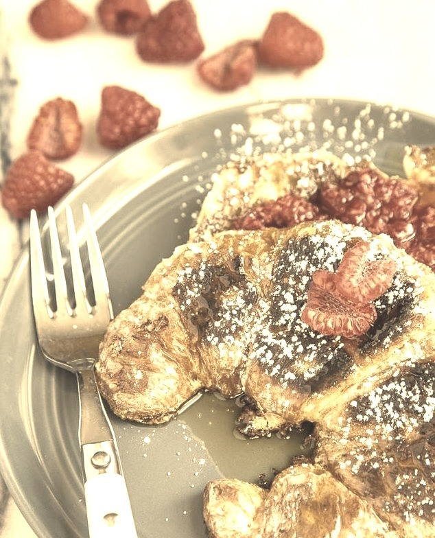 Croissant French Toast (via http