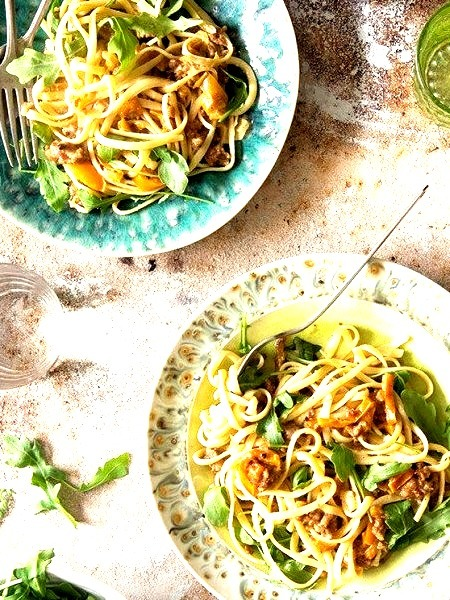 Sweet And Spicy Sausage PastaSource